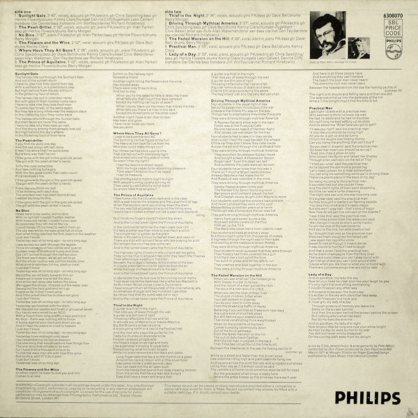 'Driving' Philips Album Cover (back)