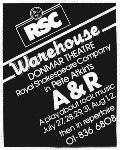 RSC Donmar Warehouse advert