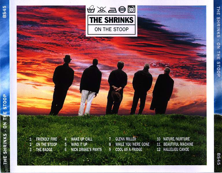 The Shrinks 'On The Stoop' CD Back